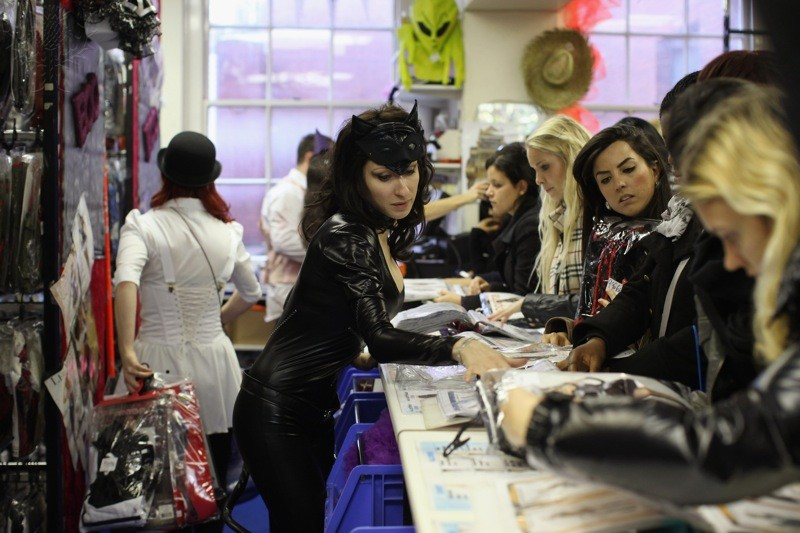 Staff At Angels Fancy Dress Shop Prepare Costumes For The Halloween Season