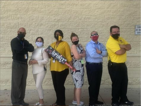 Mr. Baca, Dr. Singh, Ms. Simmons, Ms. Loker, Mr. Arenas and Mr. Doherty holding down the fort while we are away