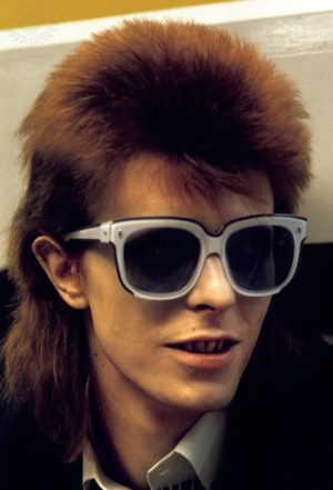 Pop star David Bowie, circa 1974