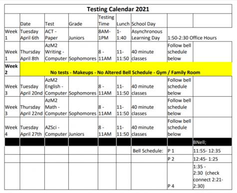 Azmert Schedule